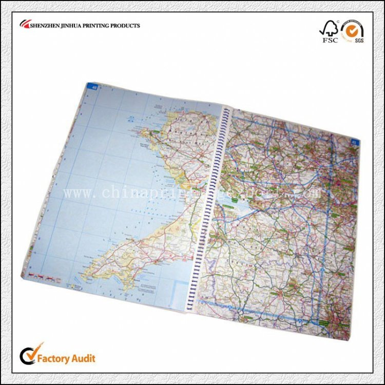 OEM Printing Manufacture Oversize World Map Printing Service
