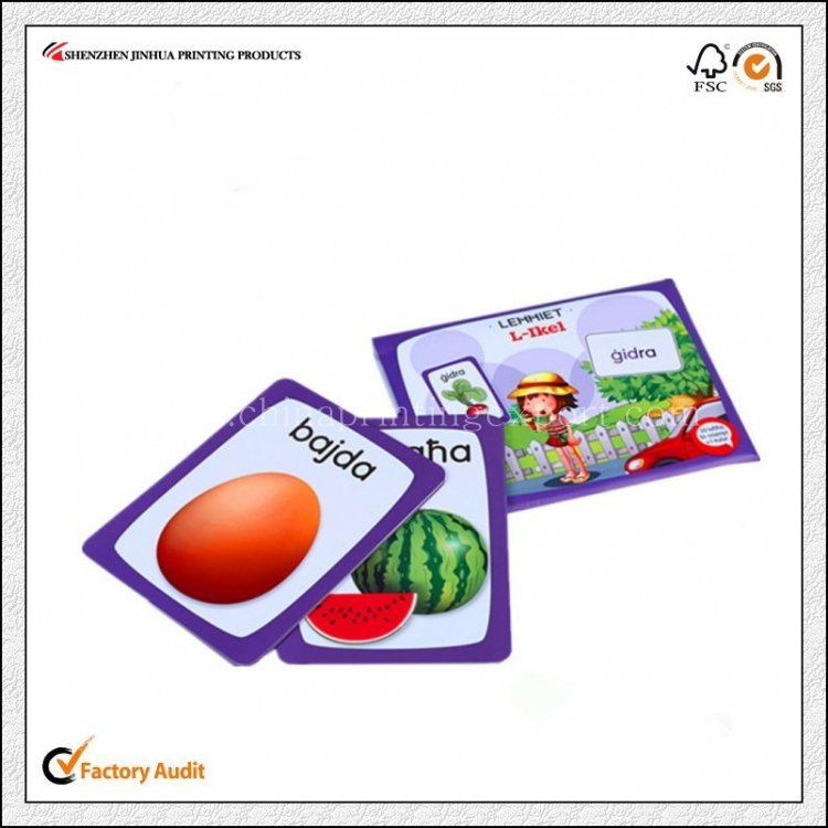 Nice Quality Children Cards Game Books Printing Service