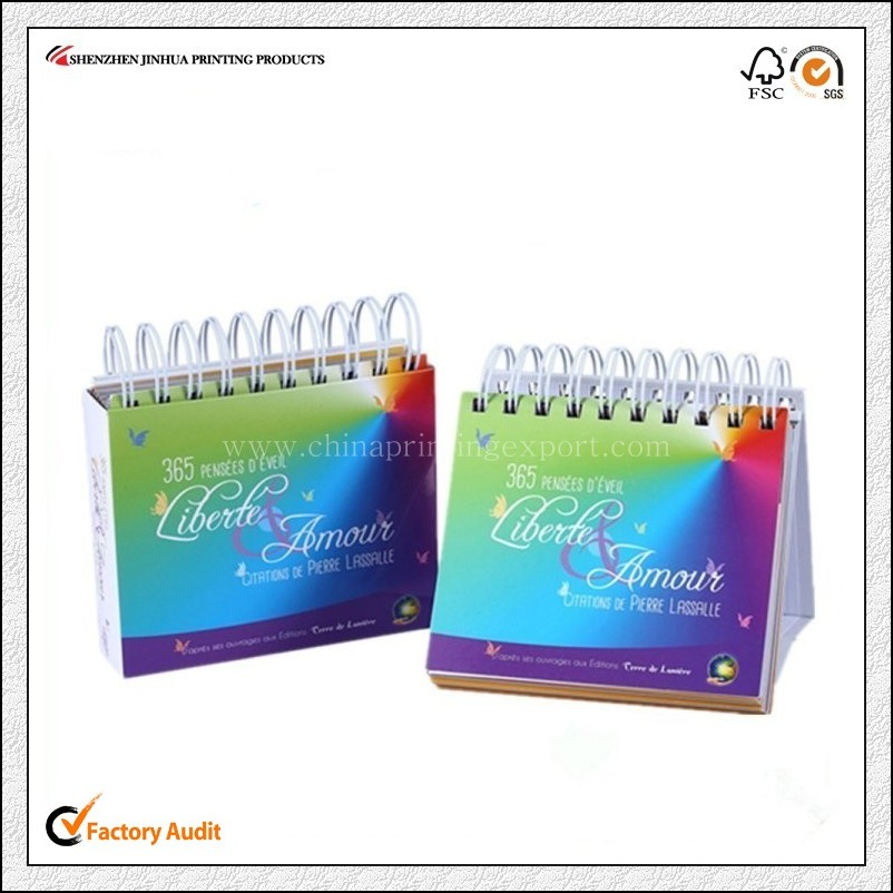 2016 High Quality Spiral Bound Daily Printing China