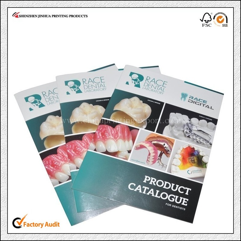 China Printing Factory Saddle Stitch Brochure Printing