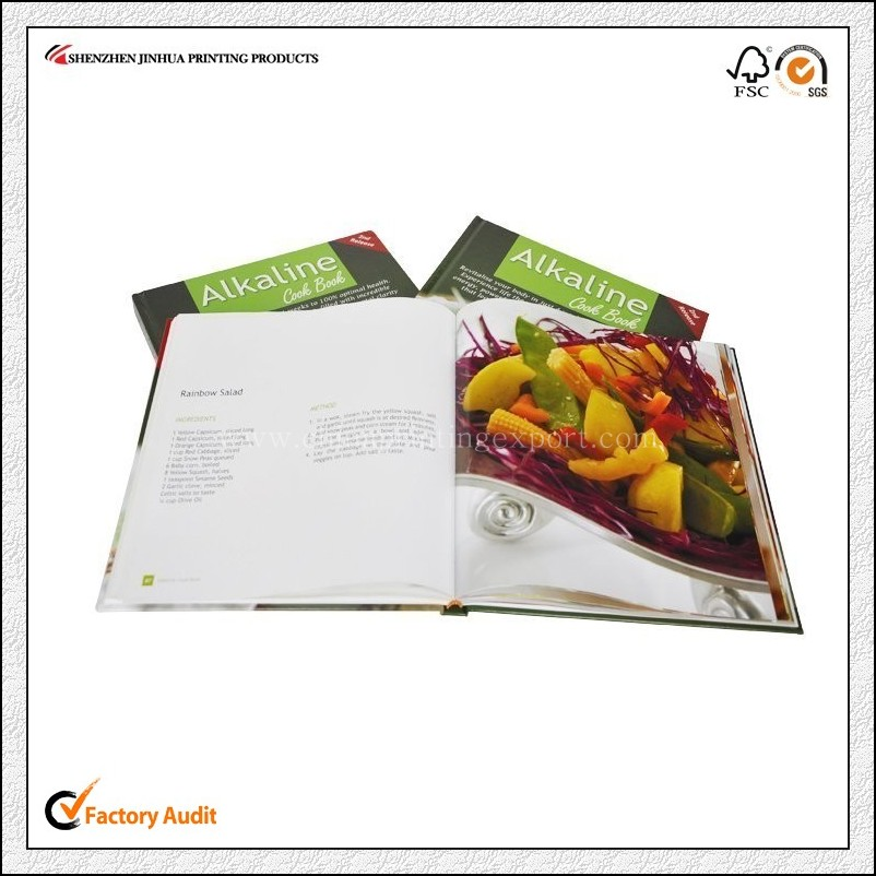Factory Custom Personalized High Quality Cookbook Printing