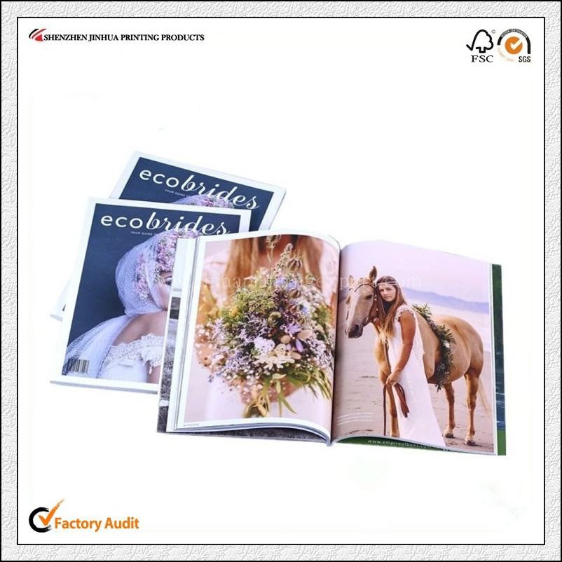 Full Color Printed Custom Cheap Magazine Fashion