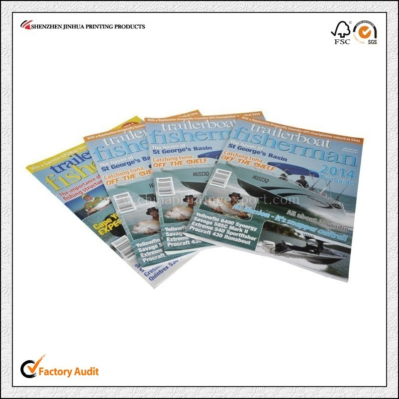 Cheap Price Glossy Lamination Magazine Printing China
