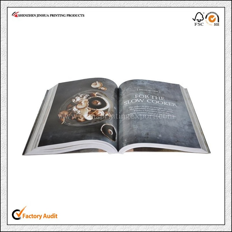 China Factory Custom High Quality Cook Book Printing