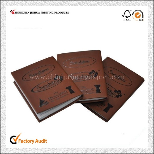 Top Class Personalized Leather Cover Notebook Printing