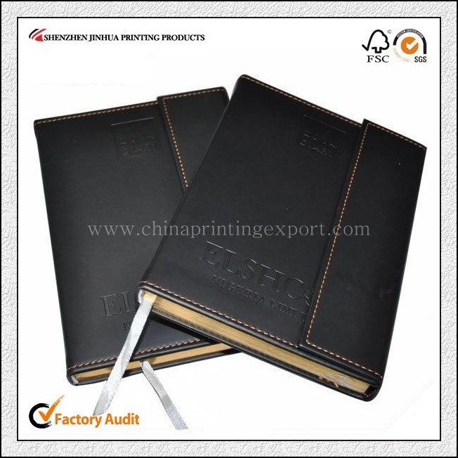 China Printing Company Leather Cover Notebook Printing