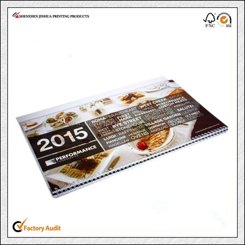Professional Printing Company Top Quality Wall Calendar