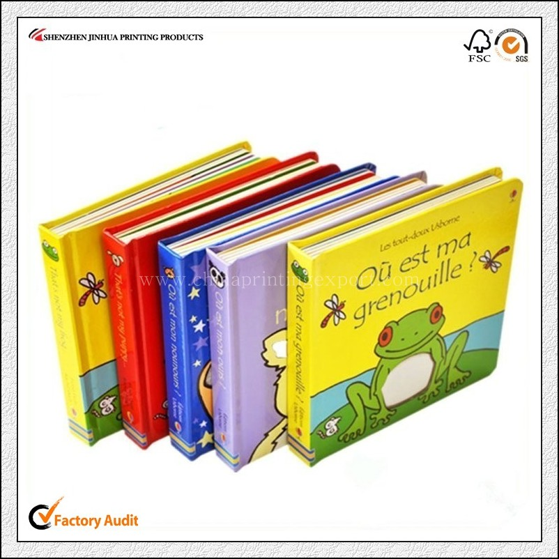 China Factory Print Cheap Hardcover Child Board Book
