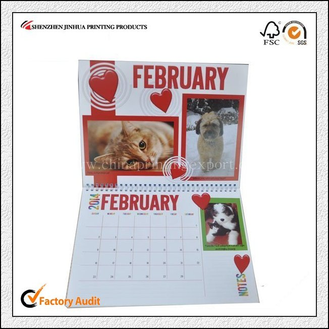 New Design Low Cost Table Calender Printing China