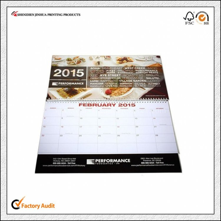 Offset Printing Wall Calendar Printing With Cheap Price