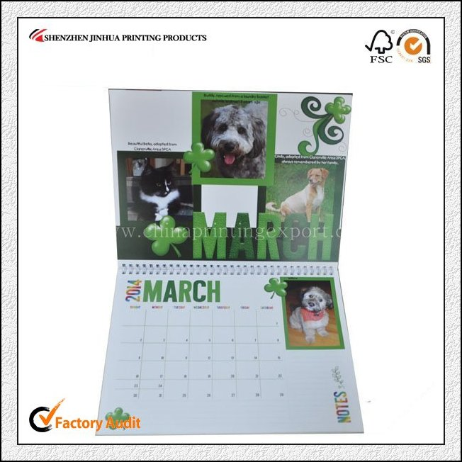 Fast Delivery 2016 Calendar Printing From Guangdong China