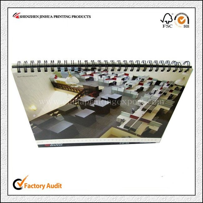 Professional Printing Factory Spiral Bound Calendar Printing