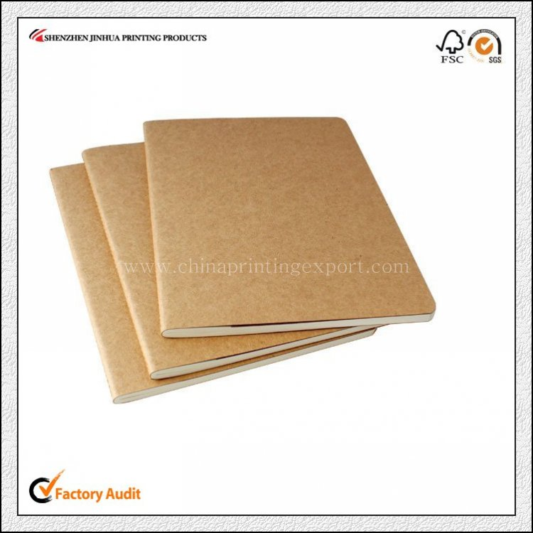 China Made Cheap Kraft Paper Cover Notepad Printing