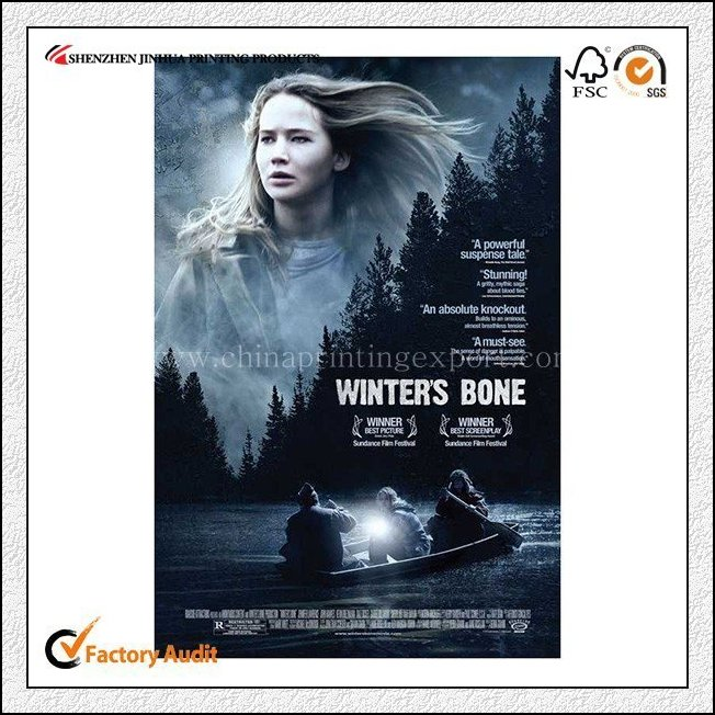 Custom Low Cost Foldedable Bulk Movie Poster Printing