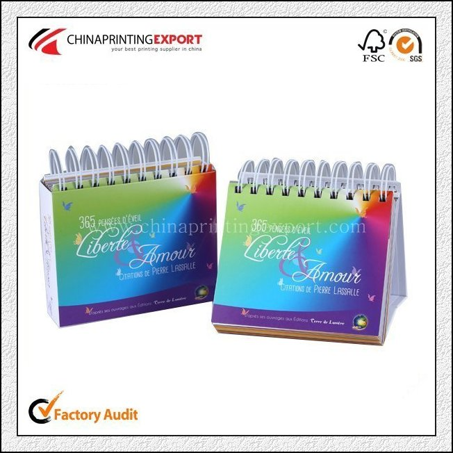 Cheap Calendar Printing By Spiral Rings With High Quality