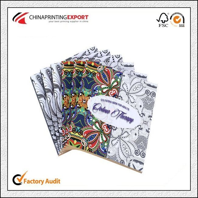 Perfect bound adult coloring book printing china
