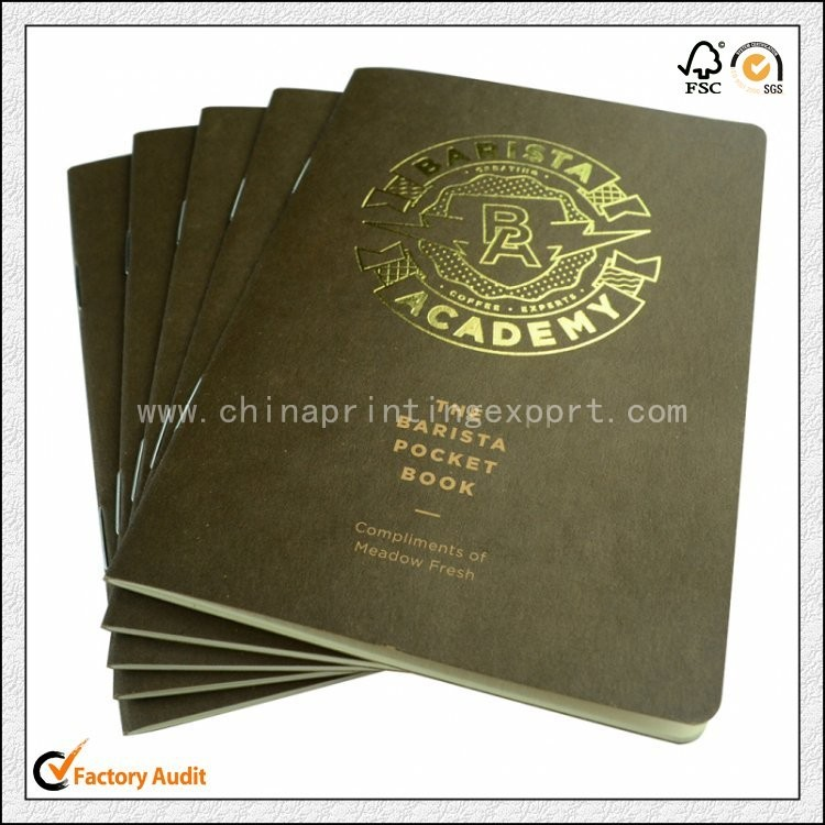 Factory Customized Gold Foil Pocket Book Printing China