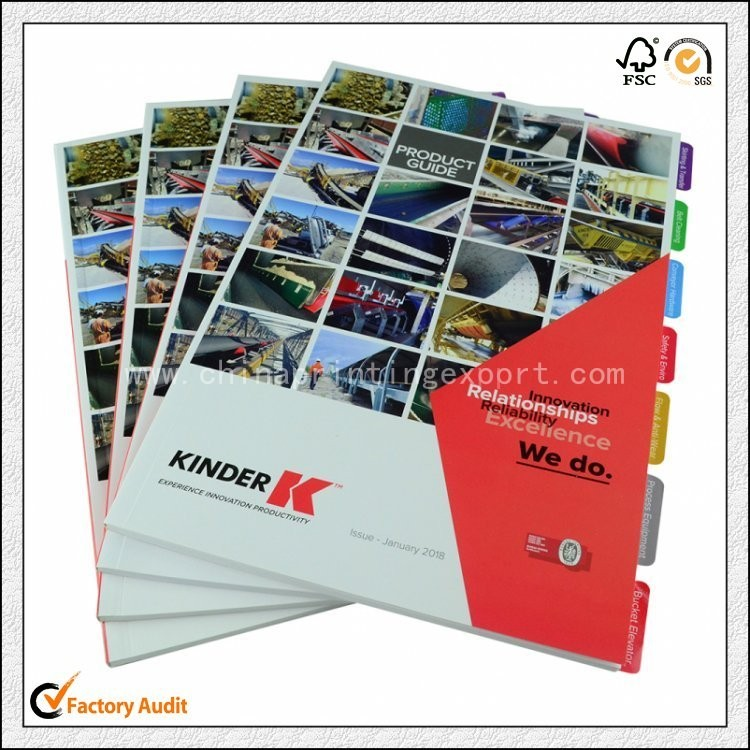 Custom Top Quality Catalogue Printing With Insert Pages