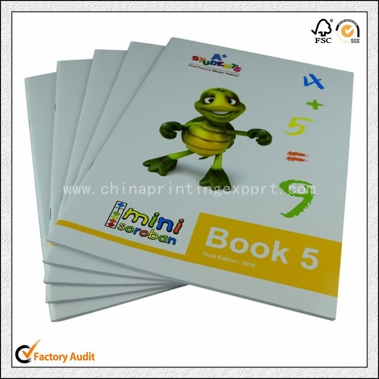 2019 Custom Saddle Stitching Children Exercise Book Printing