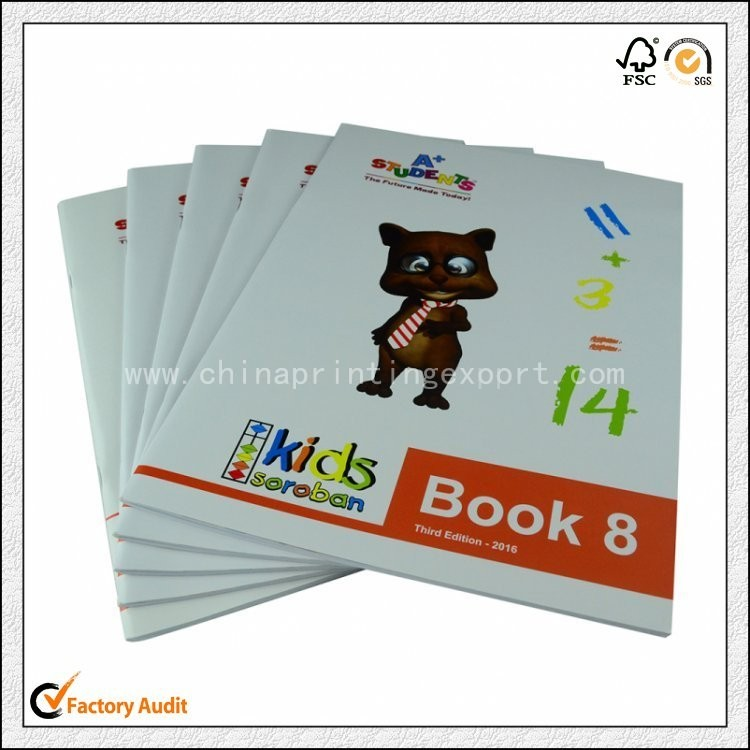 Cheap Customized Saddle Stitching Children Exercise Book Printing