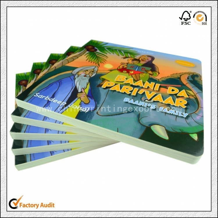 High Quality Customized Children Cardboard Book Printing