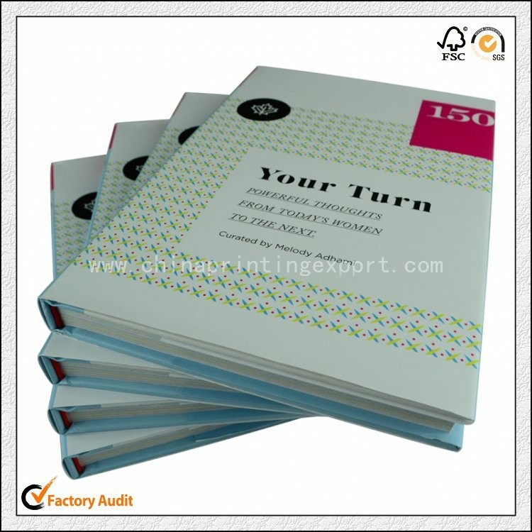 Cheap Printing Hardcover Book With Jacket High Quality