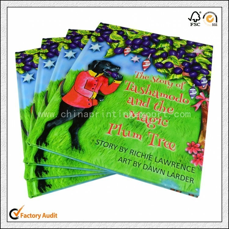High Quality Full Color Hard Cover Book Printing China
