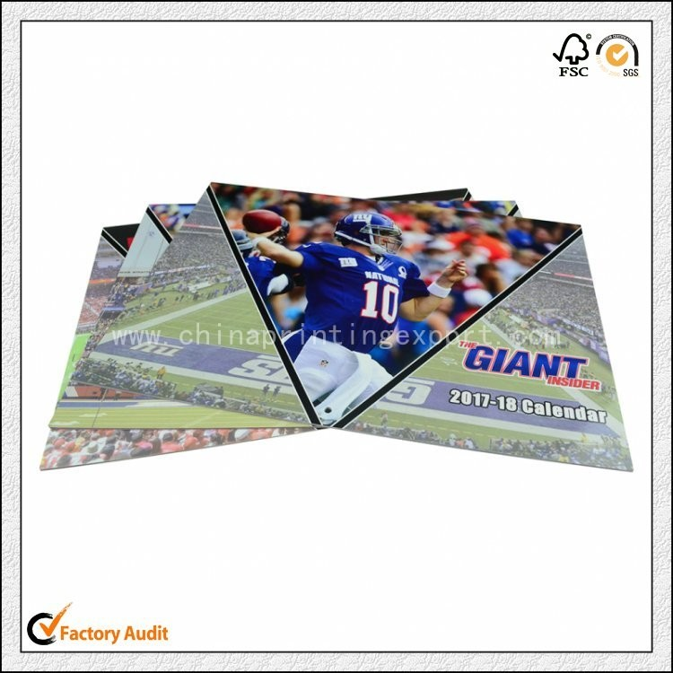 Custom 2018 Soft Cover Calendar Printing Low Cost